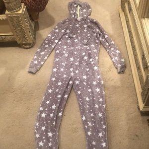 Purple Footsie Pajamas with Stars